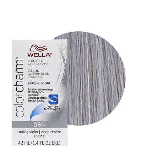 Wella Color Charm Permanent Hair Colour - 050 Cooling Violet & Developer 20