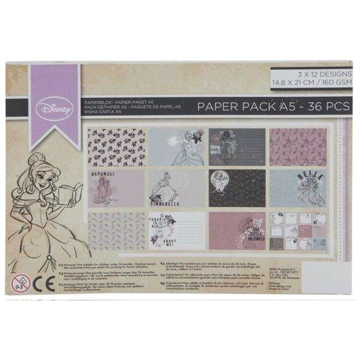 Disney Character Scrapbook Paper Packs A5 Craft Pads Foil Block Assorted Designs
