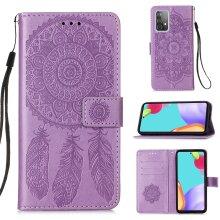 Premium PU Leather Samsung Galaxy A52 5G case Card Holder Purple
