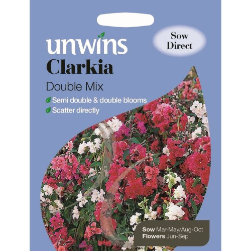 Unwins Grow Your Own At Home Clarkia Double Mix Beautiful Flower Seeds