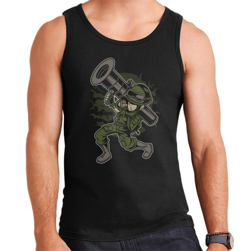 Cartoon Rocket Launcher Men's Vest