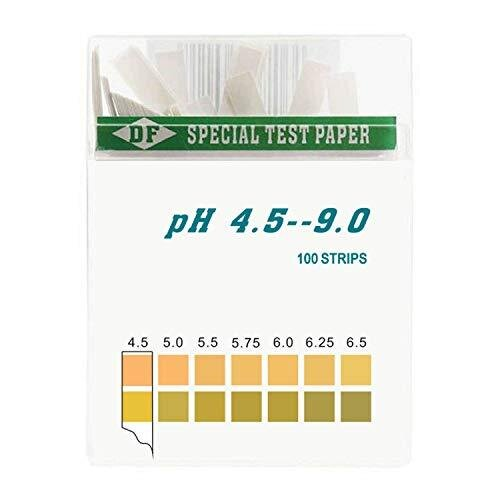 DF Speciality Paper pH Test Strips for Urine and Saliva (100) Strips Accurate and Reliable 4.5-9