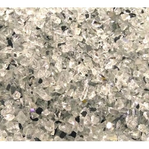 (Silver with Clear Chippings, 500g) Coloured Mirror Granules