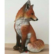 Fox New Resin Garden Sitting Fox Lawn Sculpture Ornament Statue 32cm