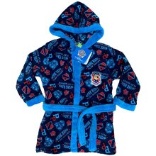 Nickelodeon TM Paw Patrol Blue Mix Hooded Bathrobe, Character Dressing Gown, Soft Fleece Robe for Boys