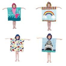 Microfibre Kids Poncho Pal Hooded Robe