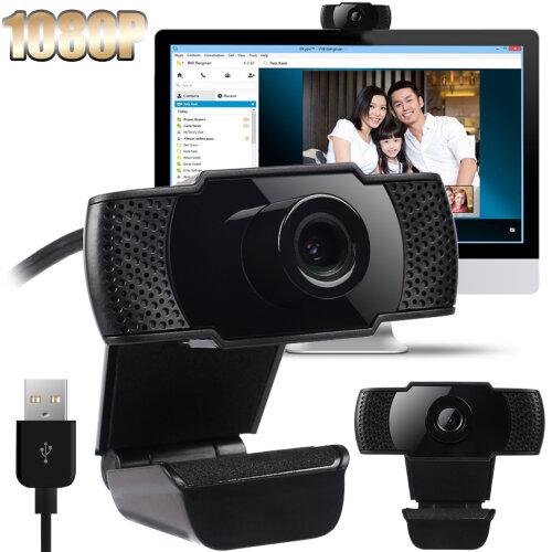 USB 2.0 1080P HD Webcam Web Camera with Microphone for Computer PC Laptop Desktop