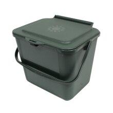 Green Kitchen Food Waste Compost Caddy - 5 Litre Bin (5L)