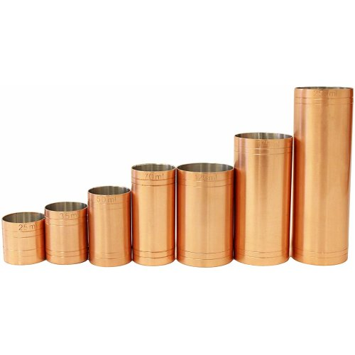 Copper Plated Thimble Bar Measures Set CE Marked