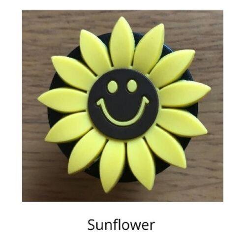 (Sunflower) mobile phone holder Socket Finger grip Stand UK