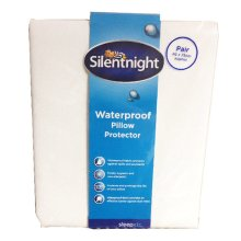 Silentnight Waterproof Pillow Protector, Pack of 2 - Size 46 x 75cm