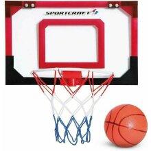Sportcraft Over The Door Mini Basketball Hoop Set With Ball & Pump
