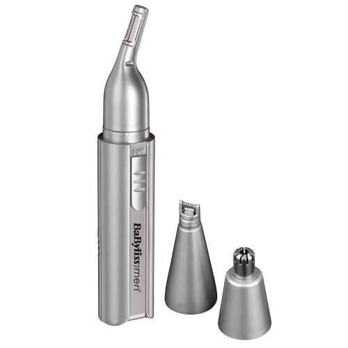 BaByliss Men 3-in-1 Hygienic Nasal Trimmer Nose, Ear, Eyebrow, Sideburns 7051BU