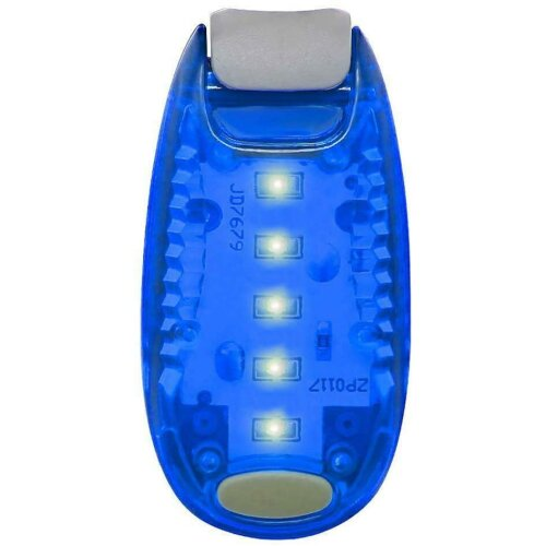 (Blue) Ultra LED Safety Lights Clip On Visibility Running Jogging Walking Cycling Bicycle