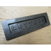 """12"""" Letters Embossed Letter Plate Antique Iron"""