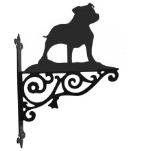 Staffordshire Bull Terrier Ornamental Hanging Bracket