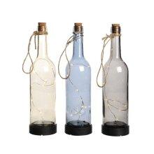 Lumineo Micro LED Solar Bottle Warm White 3 Assorted Designs [894975]