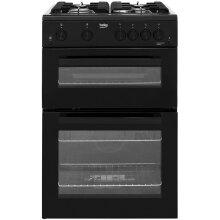 Beko KTG611K 60cm Gas Cooker with Full Width Gas Grill - Black