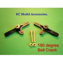 Bell Crank 180* x 2pcs with Screws