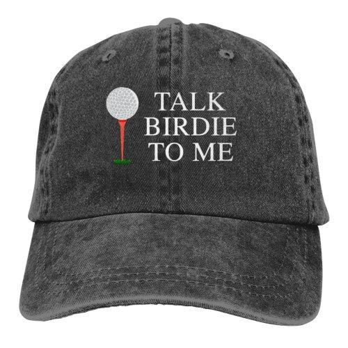Talk Birdie To Me Denim Baseball Caps