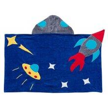 Kidorable Boys Space Hero Towel, Blue, Medium