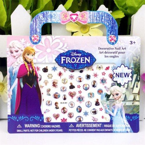 Waterproof Stickers Toys, Girl Nail Sticker, Princess Cartoon Nail Art, Early Education