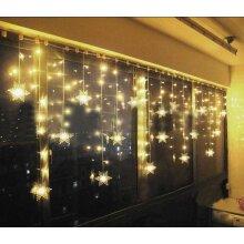 96 LED Snowflake Lights Christmas Fairy String Light Xmas Halloween Home Decor