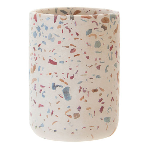 Gozo Terrazzo Concrete 250ml Toothpaste Tumbler Toothbrush Holder Bathroom Rack