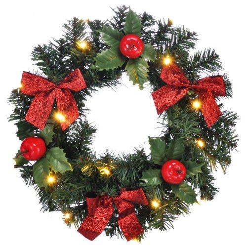 The Magic Toy Shop LED Christmas Door Wreath | Festive Wreath With Lights
