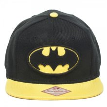 Baseball Cap - Batman - New Logo Mens Black Snapback Licensed sb0m0dbtm