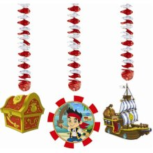 Jake and the Neverland Pirates Hanging Decorations 3pk