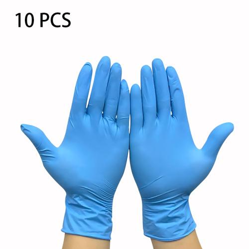 (Blue-10pcs, Small) 100pcs Powder Free Nitrile Gloves Medical Supplies