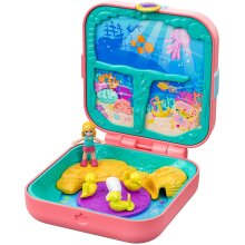 Polly Pocket GDK77 Hidden Hideouts Mermaid Cove with 3 Reveals, 3 Accessories, 1 Micro Polly Doll & Sticker Sheet
