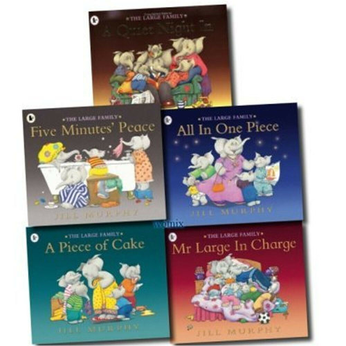Jill Murphy Large Family Series 4 Books Collection Set