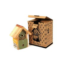 The Barn Collection Bee World Wooden Shelter Gift For Insects Bees Pollinators