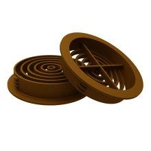 10 x Golden Oak, Tan Plastic 70mm Round Soffit Air Vents, Push in Roof Disc
