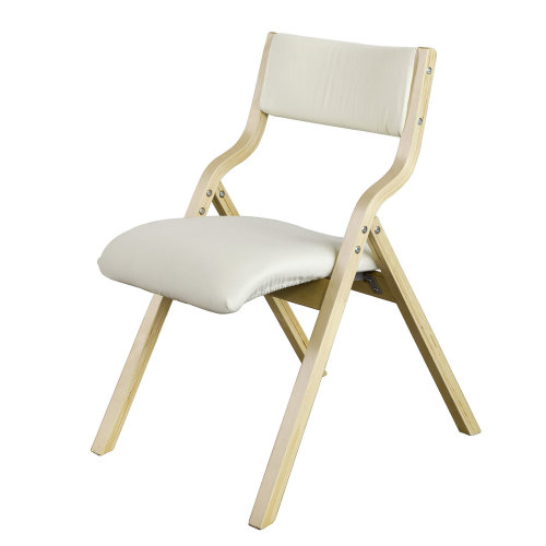 SoBuy® FST40-W, Wooden Padded Folding Chair Dining Chair Office Chair