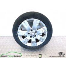 """Mercedes C-class W204 16"""" 7-spoke Alloy Wheel & Tyre A2044012602 07-14 (ref 2) - Used"""