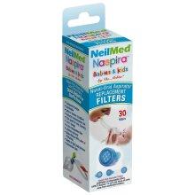 NeilMed Naspira Filter Replacements, Blue, 30 Count