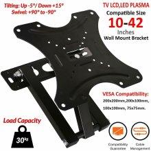 """TV Wall Bracket Mount Swivel Tilt 10 to 42"""" Plasma 3D LED LCD"""