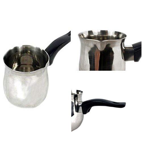(350ml) Coffee Warmer Pot Plastic Handle (Stainless Steel)