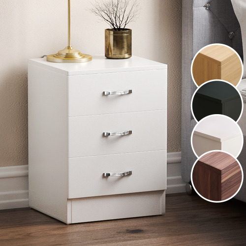 Riano 3 Drawer Bedside Chest Of Drawers