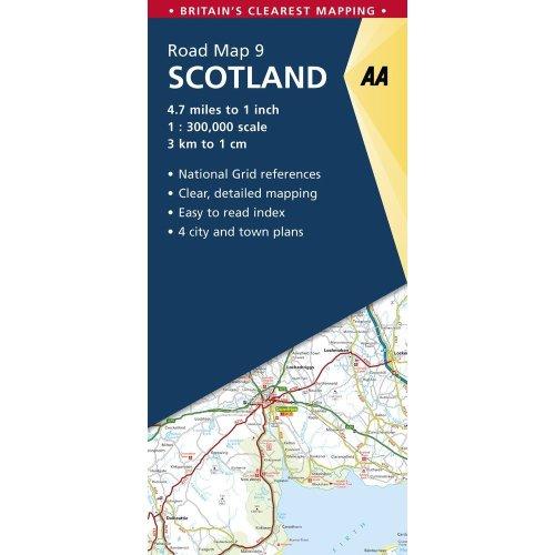 AA Road Map Scotland (AA Road Map Series 09) (AA Road Map Britain)