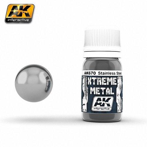 Ak00670 - Ak Interactive Paints 30ml Xtreme Metal - Stainless Steel