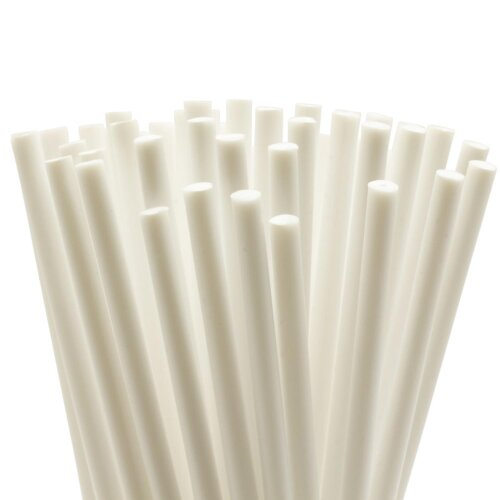 (12 Inch, 10) Cake Dowels - White Plastic - 8 Inch & 12 Inch - Various Pack Sizes