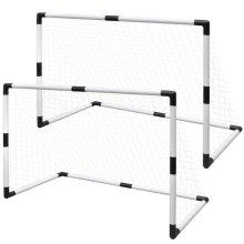 Mini Football Goal Soccer Goal Net / Post Football Equipment for Kids 2 pcs