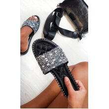IKRUSH Womens Sofie Embellished Slip On Sandals