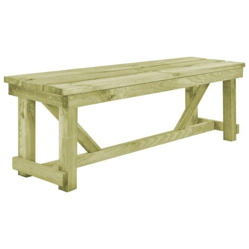 vidaXL Outdoor Bench 140x38x45cm Wood Garden Backyard Patio Furniture Seat