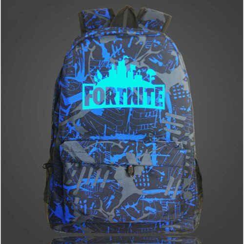 (Blue Graffiti) Luminous Fornite Backpack   Glow In The Dark Backpack