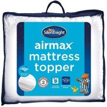 Silentnight Airmax Mattress Topper, Polyester, White,Single